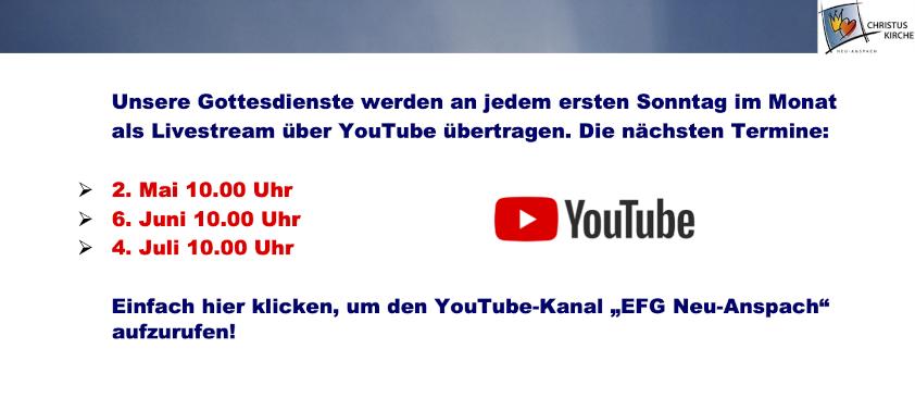 Hier klicken, um zu unserem YouTube-Kanal zu kommen